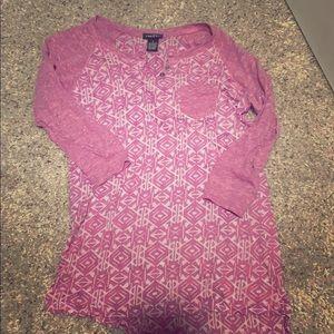 Three Quarter Sleeve Aztec Shirt